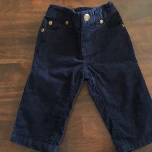 NWT Janie and Jack 6-12 month Navy Blue pants